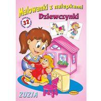 Książki dla dzieci, Malowanki z nalepkami - Dziewczynki - Zuzia (opr. miękka)