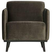 Fotele, Be Pure Fotel Statement velvet ciepły zielony 378670-156