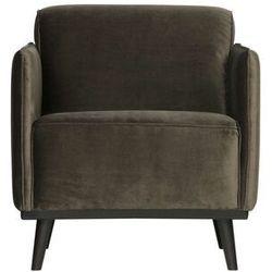 Be Pure Fotel Statement velvet ciepły zielony 378670-156