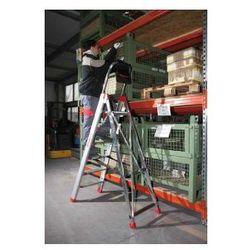 Profesjonalna drabina aluminiowa Faraone 5 stopniowa Domus 5 wysokość robocza 2,90 m