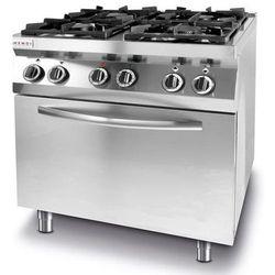 Kuchnia gazowa 4 palnikowa z piekarnikiem el. 4x GN 1/1 | 19000W