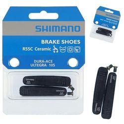 Okładziny SHIMANO R55C3 BR-7900/6700 5700 czarny / Materiał: mieszane / Przeznaczenie: szosowe obręcze karbonowe / Wersja zestawu: para