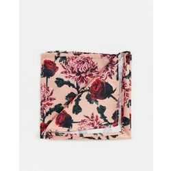 Twisted Tailor pocket square in rose print - Pink