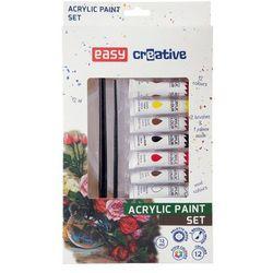 Farbki akrylowe 12 kolorów EASY