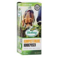 Pozostałe środki czyszczące, Worki na psie odchody BioBag Dog biodegradowalne i kompostowalne w 100% 22x32cm 40 szt - BIOBAG
