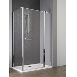Radaway EOS II KDJ drzwi 120 prawe x ścianka 80 lewa wys. 195 cm szkło przejrzyste 3799424-01R/3799430-01L