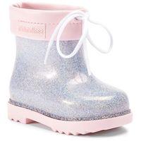 Kalosze dziecięce, Kalosze MELISSA - Mini Melissa Rain Boot Bb 32424 Pink/Clear Glitter 53403