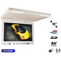 "Monitory samochodowe, NVOX RF1590U BE Monitor podwieszany podsufitowy LCD 15"" cali LED IR FM USB SD"
