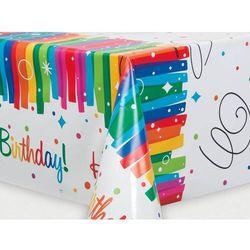 Obrus urodzinowy Rainbow Happy Birthday - 137 x 213 cm - 1 szt.