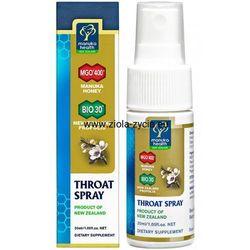 Spray na gardło z miodem Manuka MGO™ 400+ i propolisem BIO30™ 30 ml - Manuka Health