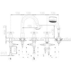 Bateria KFA SYMETRIC 345-510-00