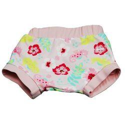 Wielorazowa pieluszka pływania basen dzieci 10-12k - Floral Pink \ L
