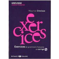 Książki do nauki języka, Exercices de grammaire francais et corrige +CD - Maurice Grevisse (opr. miękka)