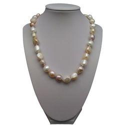 Naszyjnik supełkowany - perły wielki corn kolor mix PES07-1