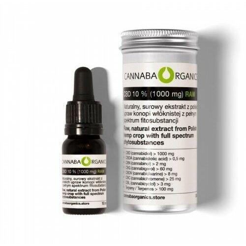 Produkty konopne, Surowy olej pełne spektrum 10% CBD (1000 mg/10 ml)