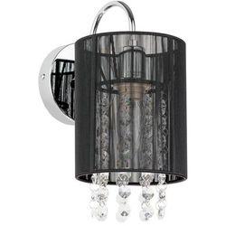 Kinkiet Italux Lana MBM1787/1 BK z kryształami lampa ścienna 1x40W E14 czarny