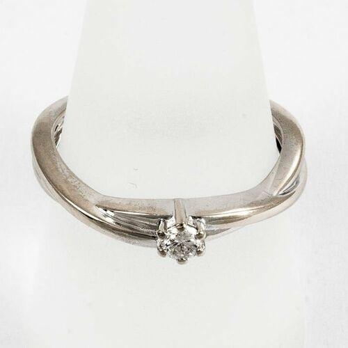 Pierścionki i obrączki, Złoty pierścionek z diamentem P1579