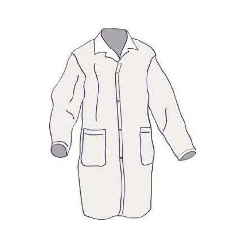 Ubrania medyczne, FARTUCH LABORATORYJNY z włókniny biały XXL 10szt
