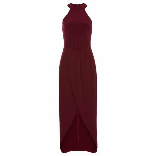 Suknie i sukienki, Sukienka z dekoltem halter bonprix ciemnoczerwony
