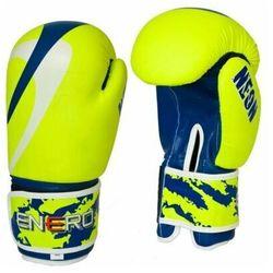 Rękawice bokserskie ENERO Neon (rozmiar 14oz) Zielono-granatowy