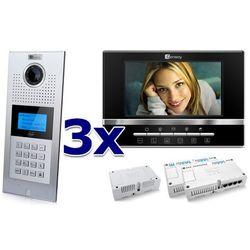 Zestaw wideodomofonowy 3 rodzinny Panel C5 C9E21L-C, 3x Monitor C5 V13, Akcesoria