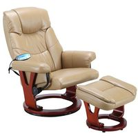 Fotele masujące, KARMELOWY FOTEL MASUJĄCY WYPOCZYNKOWY BIUROWY MASAŻ GRZANIE - Karmelowy 2532 (-20%)