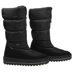 Śniegowce MANITU 991176-1 Czarne Polar-Tex damskie
