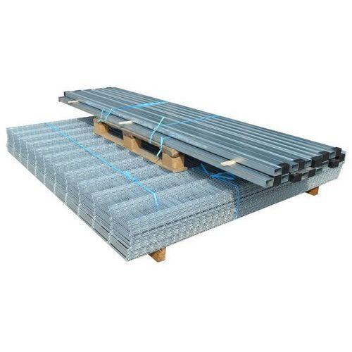 Przęsła i elementy ogrodzenia, vidaXL Panele ogrodzeniowe 2D z słupkami - 2008x2030 mm 32 m Srebrne Darmowa wysyłka i zwroty