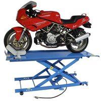 Pozostałe akcesoria do motocykli, Podnośnik motocyklowy krzyżakowy hydrauliczno - pneumatyczny 450 kg
