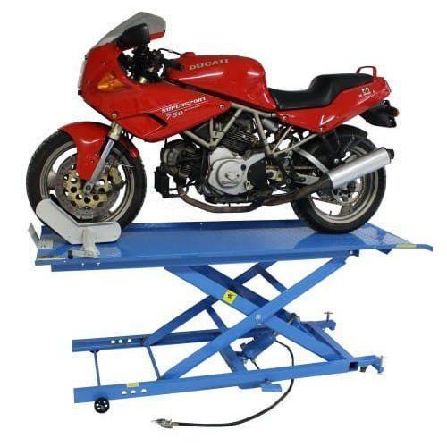 Pozostałe akcesoria do motocykli, Podnośnik motocyklowy krzyżakowy hydrauliczno - pneumatyczny 450 kg - ML45KA