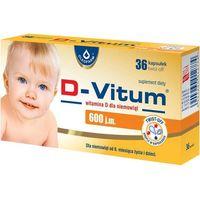 Witaminy i minerały, D-Vitum witamina D dla niemowląt 600 j.m. x 36 kapsułek twist-off