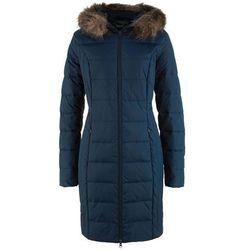 Lekki płaszcz puchowy pikowany bonprix ciemnoniebieski