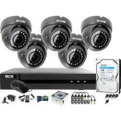 Monitoring po skrętce BCS Basic Full HD 2MPx 1TB H265+ 5 x Kamera kopułkowa 2.8-12mm IR 40m