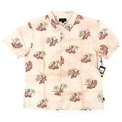 koszula BRIXTON - Bueller S/S Wvn Dusty Pink (DSTPK) rozmiar: L
