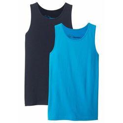 Koszulka bez rękawów (2 szt.) bonprix ciemnoniebieski + turkusowy