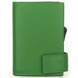 SecWal SecWal 2 Kreditkartenetui Geldbörse RFID Leder 9 cm grün ZAPISZ SIĘ DO NASZEGO NEWSLETTERA, A OTRZYMASZ VOUCHER Z 15% ZNIŻKĄ