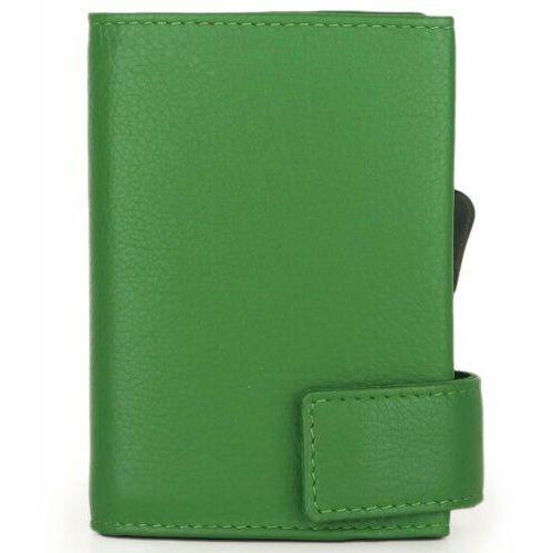 Etui i pokrowce, SecWal SecWal 2 Kreditkartenetui Geldbörse RFID Leder 9 cm grün ZAPISZ SIĘ DO NASZEGO NEWSLETTERA, A OTRZYMASZ VOUCHER Z 15% ZNIŻKĄ