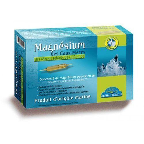 Witaminy i minerały, Magnez Macierzysty w ampułkach 20 szt. ALPHA BIOTECH