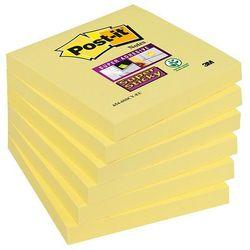 Bloczek samoprzylepny POST-IT® Super Sticky (654-12SSCY-EU), 76x76mm, 1x90 kart., żółty