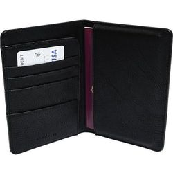 Etui na paszport Stackers czarne