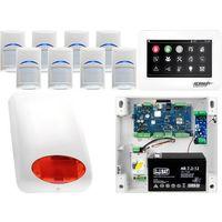 Zestawy alarmowe, Zestaw alarmowy Ropam OptimaGSM 8 x Czujka Bosch Manipulator dotykowy TPR-4WS GSM