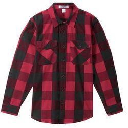 Koszula w kratę bonprix czerwono-czarny w kratę
