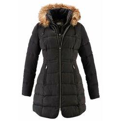 Krótki płaszcz z kapturem, na podszewce bonprix czarny