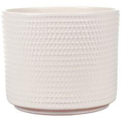 Osłonka doniczki Cermax Calla cylinder 16 cm kremowa