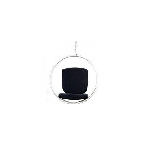 Fotele, Fotel Bańka transparent/czarna poduszka