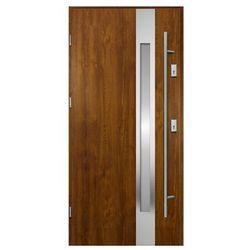 Drzwi zewnętrzne O.K. Doors Arctica 90 lewe złoty dąb z antabą/pochwytem