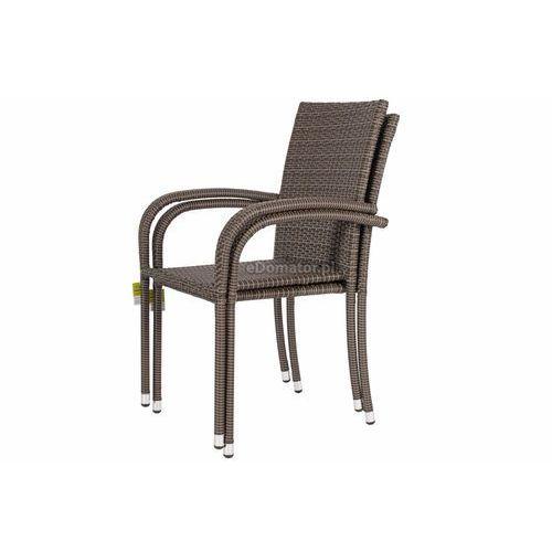 Krzesła ogrodowe, Krzesło ogrodowe z technorattanu MALAGA - brązowe - brązowy
