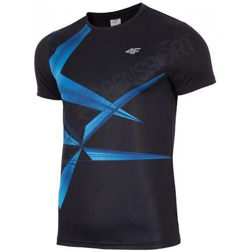 T-shirty męskie, MĘSKA KOSZULKA 4F H4L17-TSMF003 CZARNY L