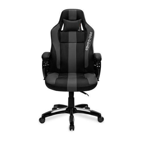 Fotele dla graczy, Fotel gamingowy DAYTONA szary PRO-GAMER dla graczy PODKŁADKA PRO-GAMER 80x45cm GRATIS