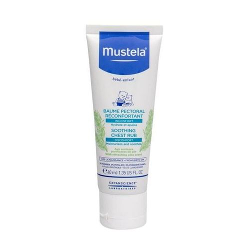 Pozostałe kosmetyki dla dzieci, Mustela Bébé Soothing Chest Rub balsam do ciała 40 ml dla dzieci